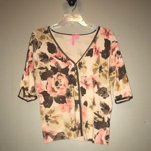 XL Charlotte Tarantola pink / brown sweater